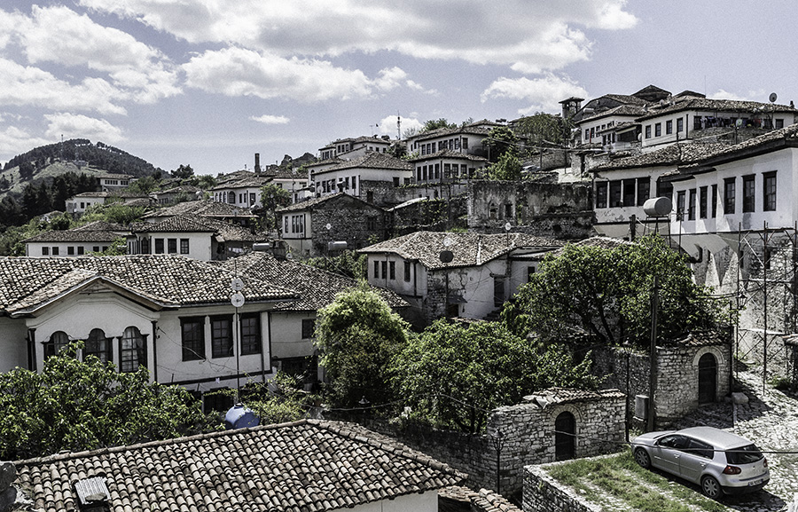 19 Houses inside the Castle of Berat, Albania, in 2017