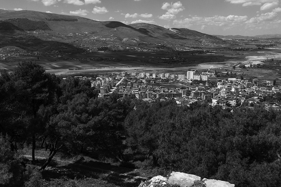 20 City of Berat, Albania, in 2017: View from northwest side of the castle