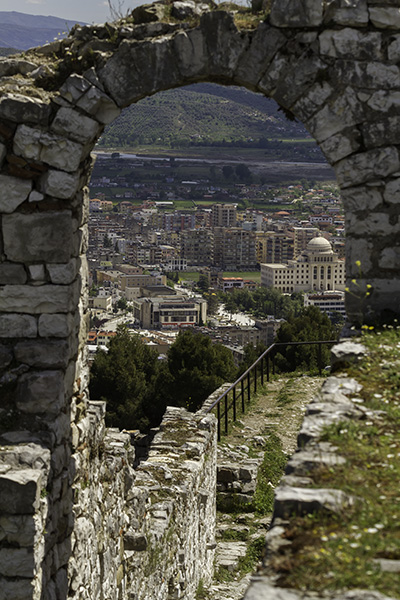 14 Southwest view of the city from the castle of Berat, Albania, in 2017