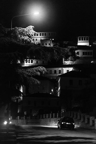 37 Night in the old city of Berat, Albania, in 2017