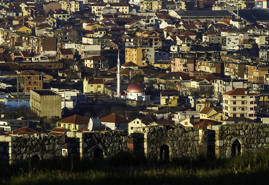 034 View from Rozafa Castle of Shkodra, Albania, in 2015