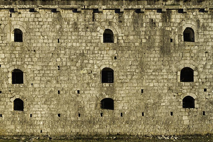 019 Windows and courtyard, Rozafa Castle of Shkodra, Albania, in 2015