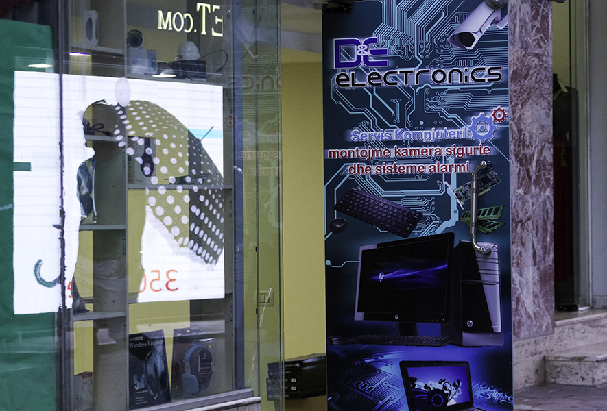 08 Electronics shop in Tirana, Albania, in 2015
