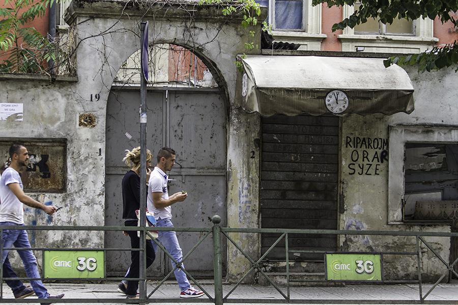 09 Street in Tirana, Albania, in 2015
