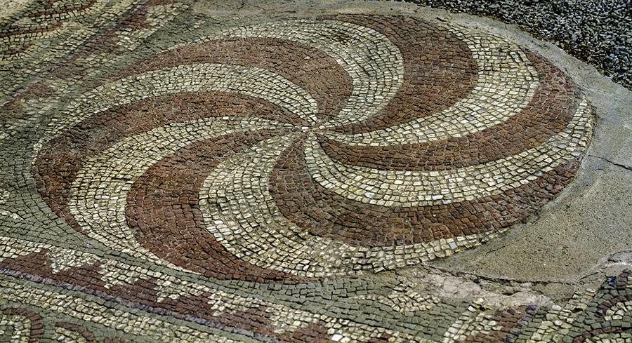 25 Mosaic floor at the 'Tirana Mosaic' in Tirana, Albania, in 2015