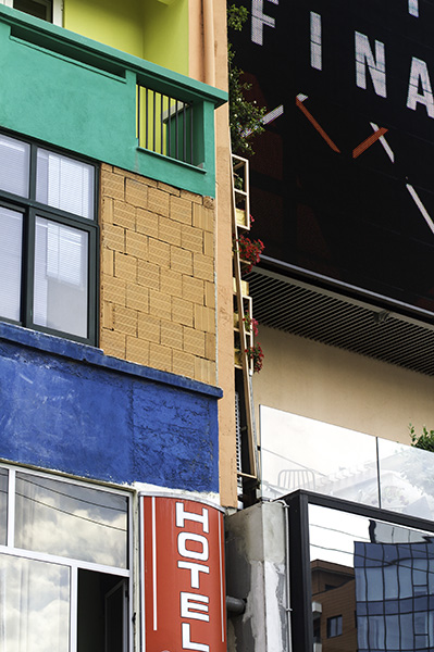 17 Building facades in Tirana, Albania, in 2015