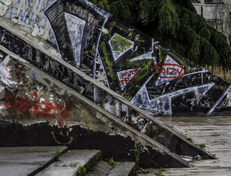 01 Detail, 'Piramida' in Tirana, Albania, in 2014