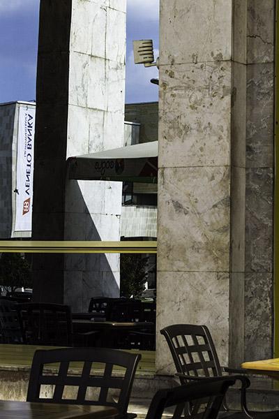 13 Detail, opera house in Tirana, Albania, in 2014