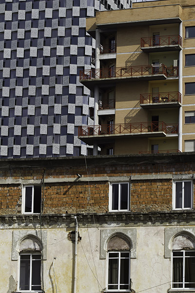 31 Building facades in Tirana, Albania, in 2014