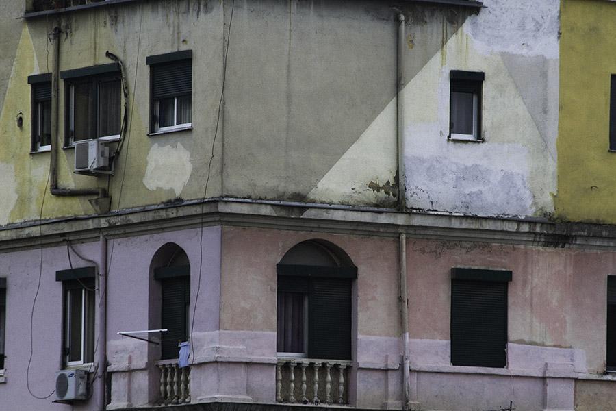 30 Building facade in Tirana, Albania, in 2014