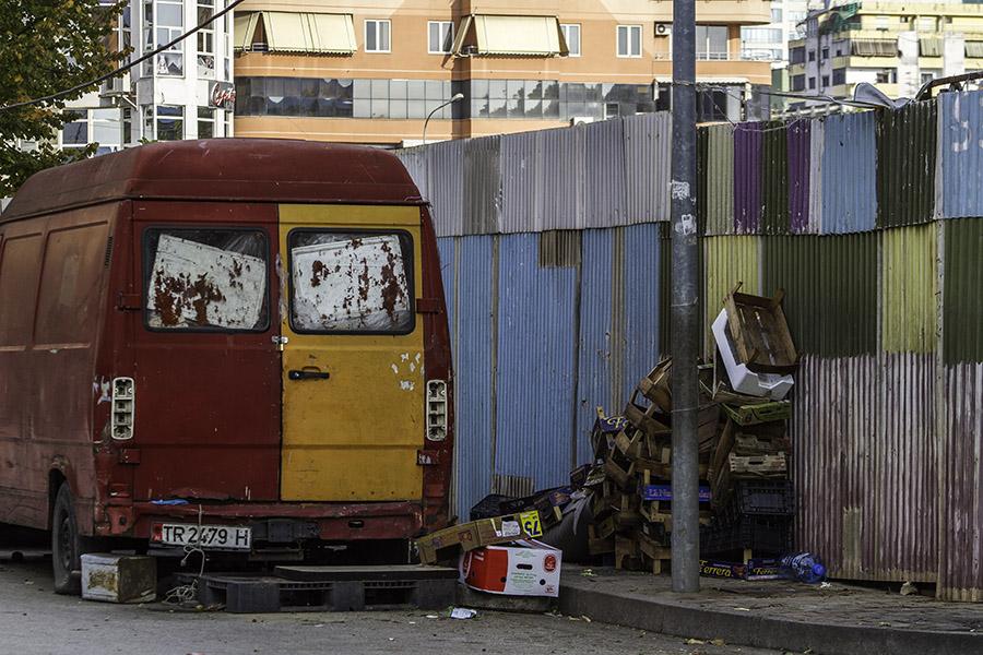 28 Street scene in Tirana, Albania, in 2014