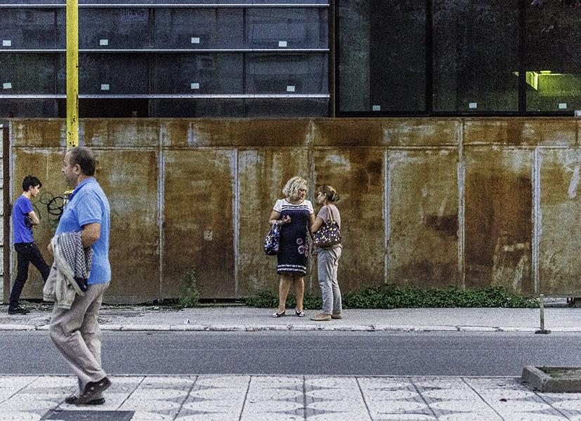 32 Street scene in Tirana, Albania, in 2014