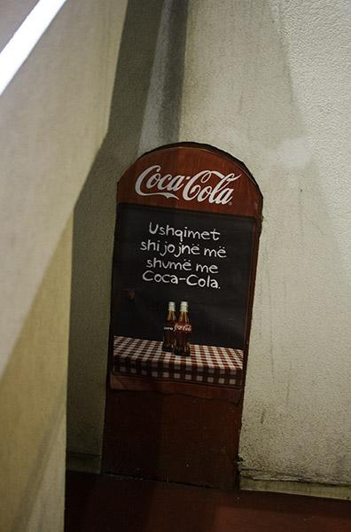 35 Coca-Cola advertisement in Tirana, Albania, in 2014