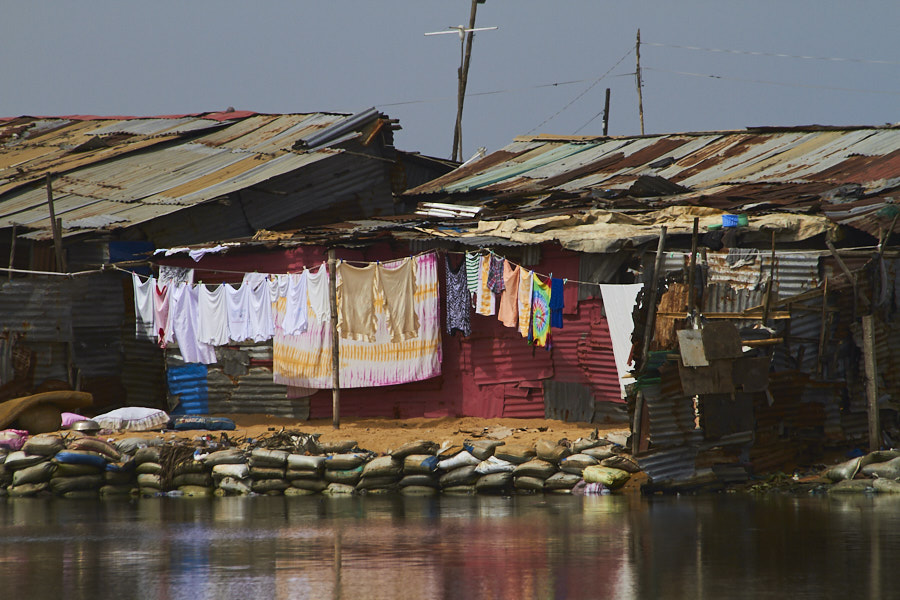 Homes, West Point settlement --Monrovia, Liberia