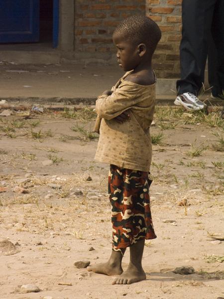 18 Child waiting for mother to vote in Buterere, Bujumbura Rural Commune, Burundi, in 2005