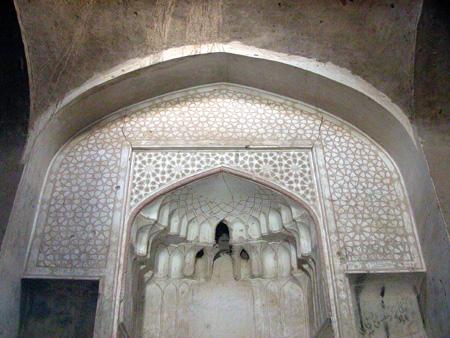 Arg-e Bam (Bam Citadel), Iran: Mihrab of a mosque