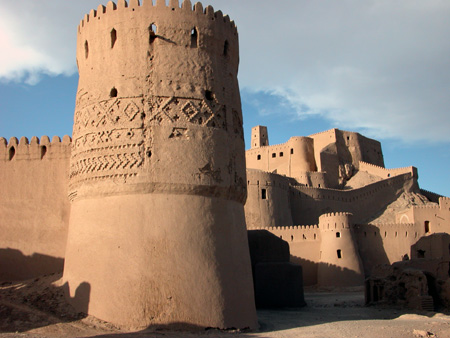 Arg-e Bam (Bam Citadel), Iran: Outer rampart with tower, citadel