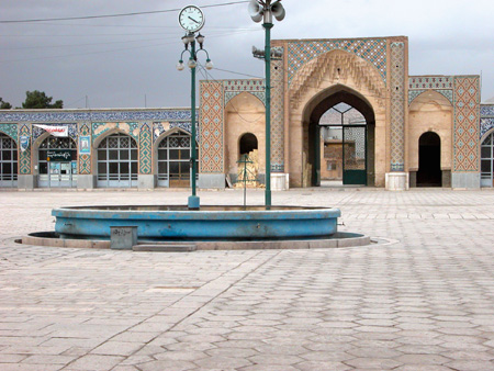 Iwan and courtyard, Emam (formerly Malek) Mosque Kerman, Iran