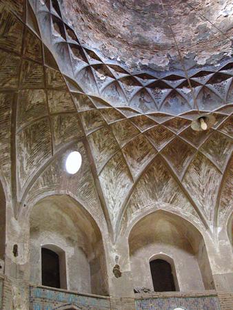 Dome, interior, Ganj Ali Bazaar Kerman, Iran