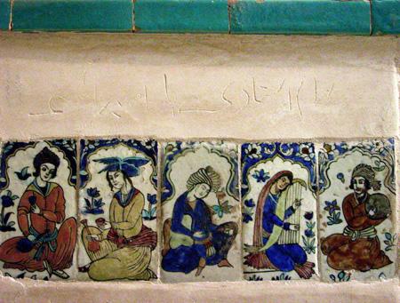 Tile decoration, Ganj Ali Khan Bathhouse Kerman, Iran