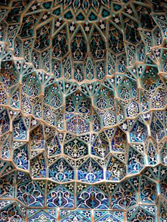 Muqarnas in iwan, Jameh Mosque Kerman, Iran