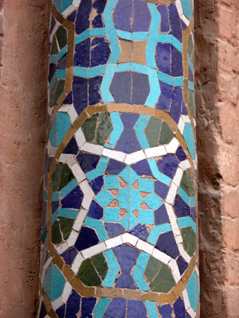 Cut glazed tile decoration, Jameh Mosque Kerman, Iran