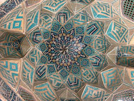 Interior of dome, Jameh Mosque Kerman, Iran