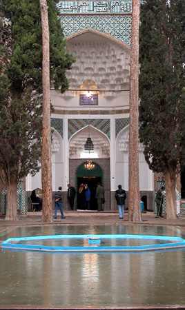 Mahan, Iran: Second coutyard and entrance to mausoleum, Tomb of Shah Nematollah Vali