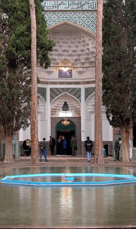 Mahan, Iran: Second coutyard and entrance to mausoleum, Tomb of Shah Nematollah Vali