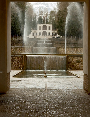 Mahan, Iran: Shahzade Gardens, once residence of Abdul Hamid Mirza, Qajar prince