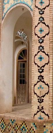 Mahan, Iran: Vestibule, Shahzade Gardens, once residence of Abdul Hamid Mirza, Qajar prince