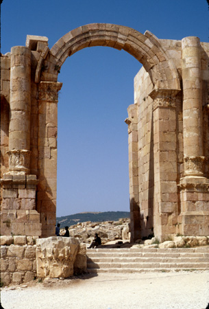 Jerash, Jordan: Hadrian's Arch