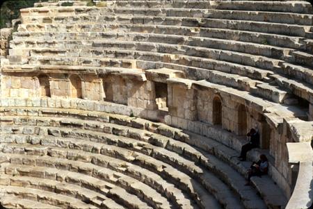 Jerash, Jordan: Detail, North Theater