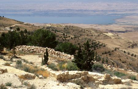 View of Dead Sea, Mount Nebo, Jordan