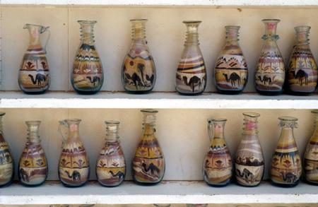Petra, Jordan: Sand bottles