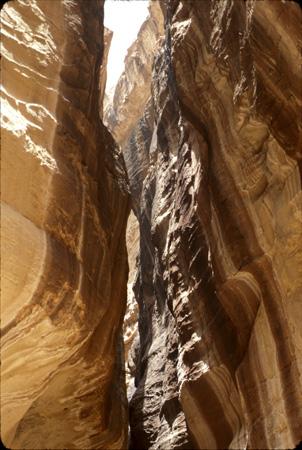 Detail, Siq walls Petra, Jordan