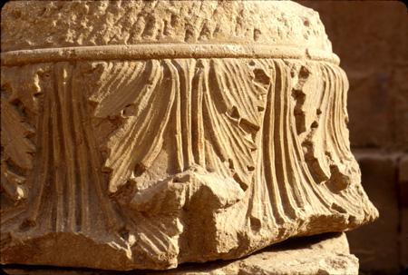 Column detail, Ancient City Center Petra, Jordan