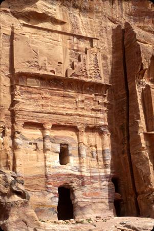 Silk Tomb, East Cliff (al-Khubtha) Petra, Jordan