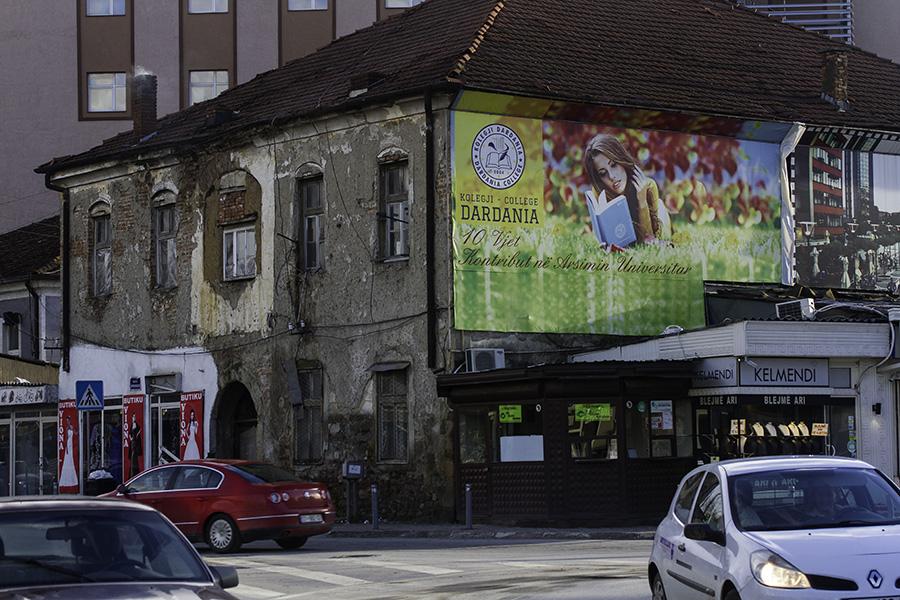 046 Street scene in Prishtina, Kosovo, in 2015
