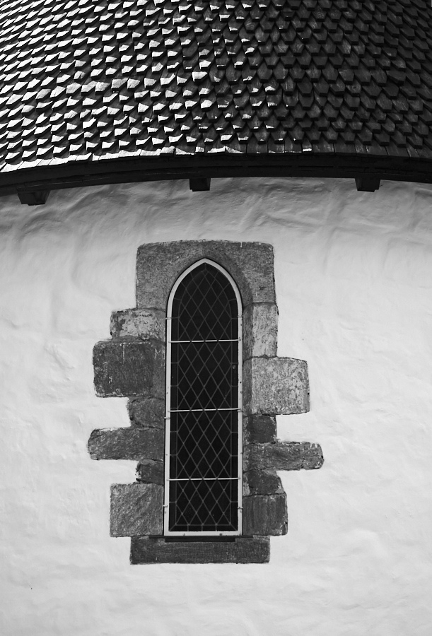 002 Window and roof, Fjære Church -- Grimstad, Sørlandet, 2014