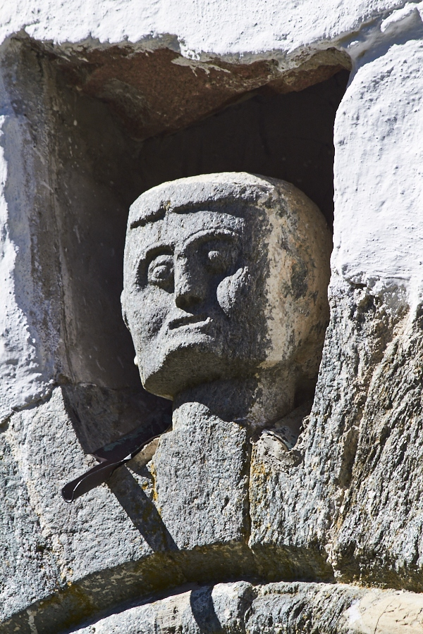 010 Head of protective figure, Fjære Church -- Grimstad, Sørlandet, 2015