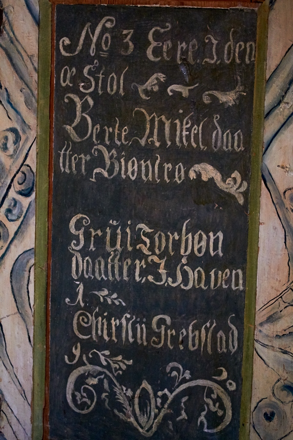 030 Inscription, Fjære Church -- Grimstad, Sørlandet, 2015