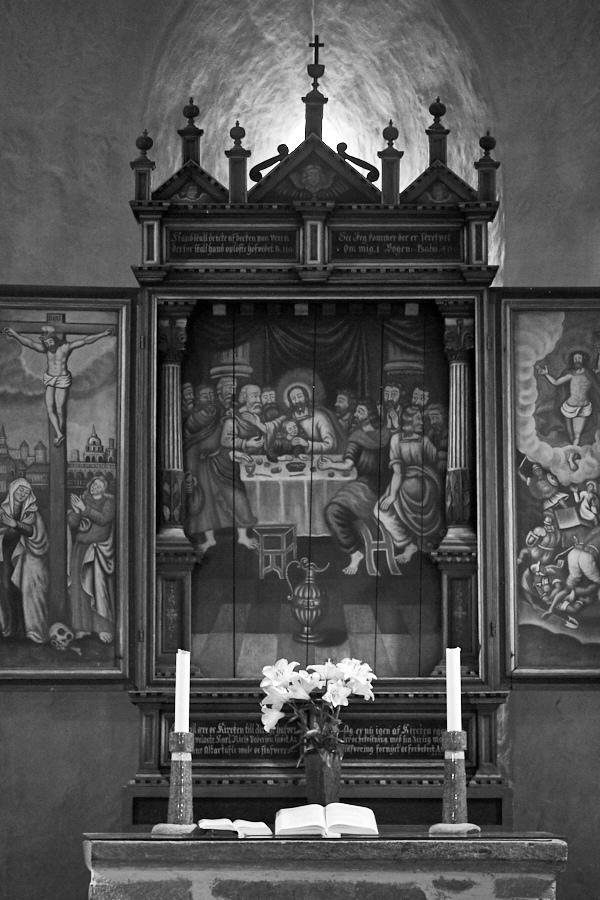 030 Altar, Fjære Church -- Grimstad, Sørlandet, 2015
