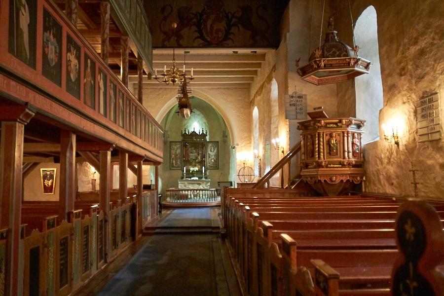 065 Interior, Fjære Church -- Grimstad, Sørlandet, 2015