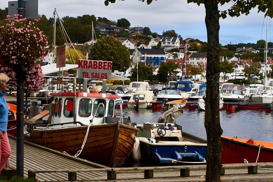 """002 """"Crabs for sale"""" at the harbor in Grimstad, Sørlandet, Norway"""