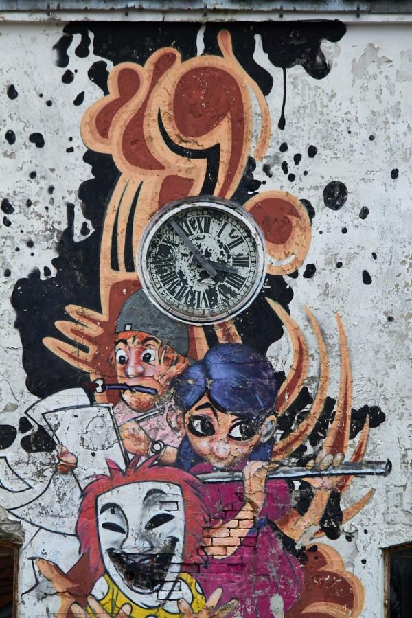 013 Art on former factory wall in Grimstad, Sørlandet, Norway