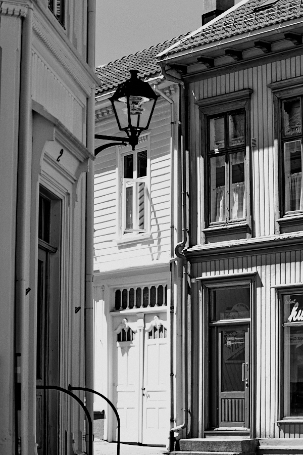 006 Building facades in Grimstad, Sørlandet, Norway