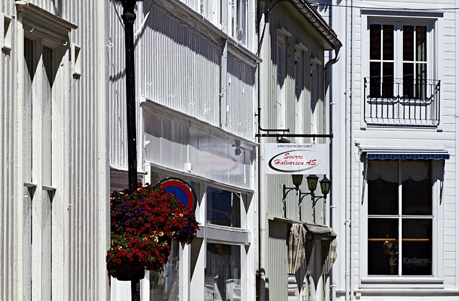 005 Building facades in Grimstad, Sørlandet, Norway