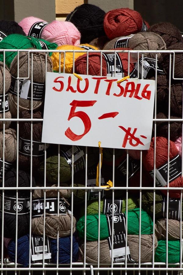047 Final sale at yarn shop in Grimstad, Sørlandet, Norway